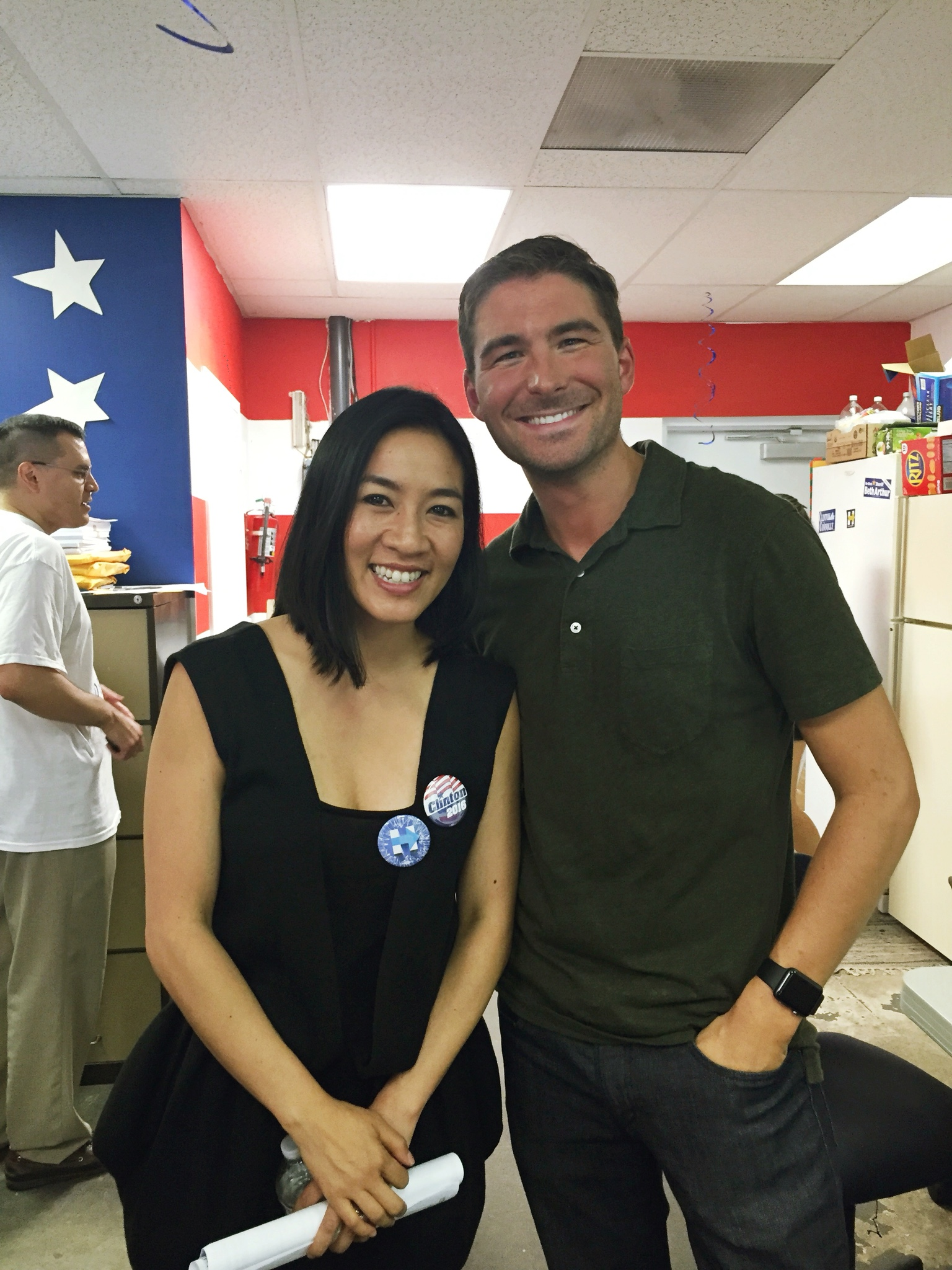 James Kicklighter Hillary Clinton Michelle Kwan is Working for Hillary Clinton